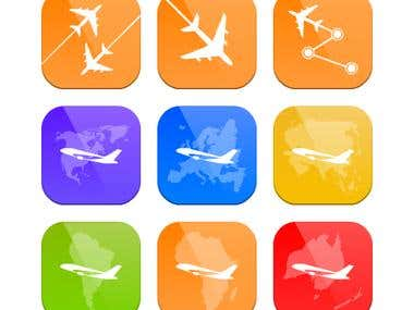 Plane Travel Icon Set