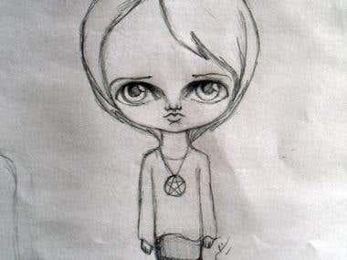 Chibi sketch design