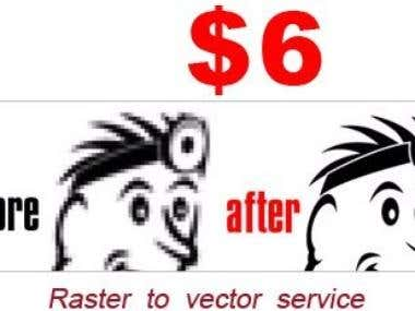 high-quality raster to vector conversion services