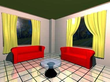 Rendering guest room