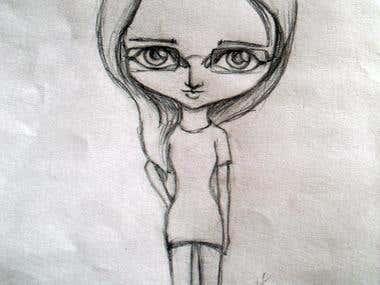 Chibi design sketch
