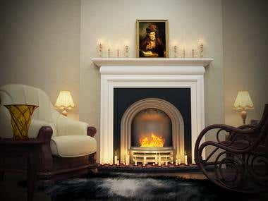 an interior shot for a client