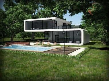 a shot for a villa
