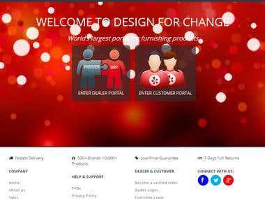ONLINE STORE WITH Manual 3D DESIGN+2 Portal[Customer+Dealer]
