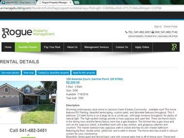 DATA ENTRY FOR A WEBSITE RELATING TO HOLYDAY RENTAL HOMES