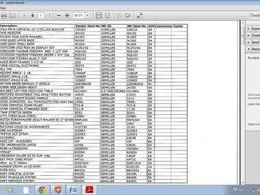 PDF job