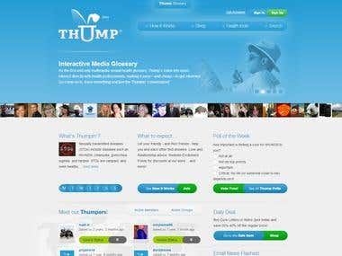 Wordpress website Thump
