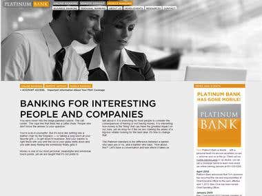 Website for PlatinumBank