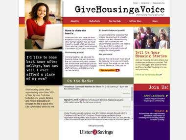 Website for GiveHousingaVoice