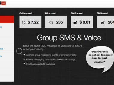 Group SMS application