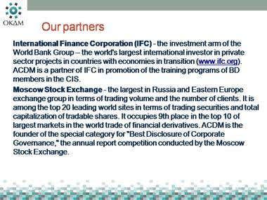 RU-EN translation on corporate governance