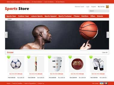 Sports Equipment e-commerce website
