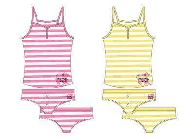 Illustrator - Ladies Underwear Designs
