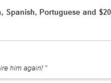 Freelancer translation work