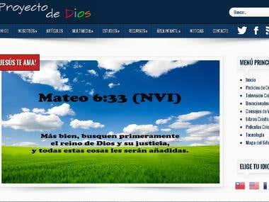 """Design of website """"Proyecto de Dios"""""""