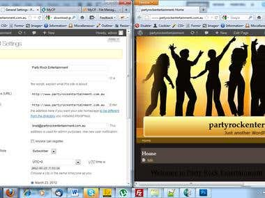 Site creation using wordpress