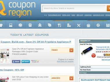 Coupon Region - WordPress Site