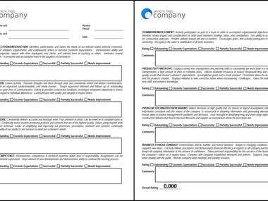 Employee Evaluation PDF Form