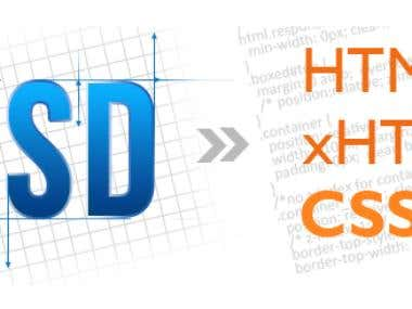 PSD to HTML5/xHTML & CSS3