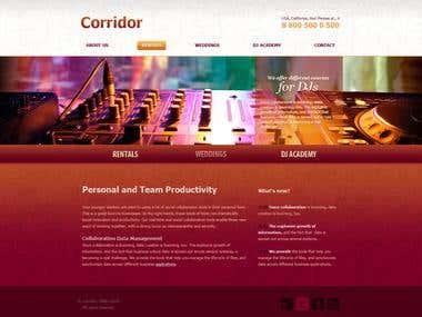 Corridor event group web-site