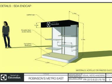 Electrolux Endcap for Robinson's Metro East (Philippines)