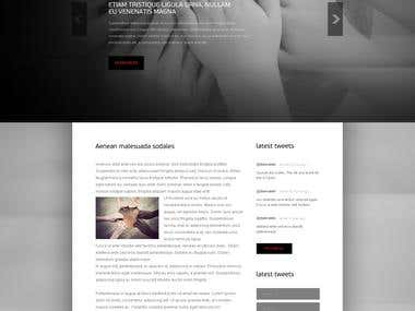web-site layout for App of Hope