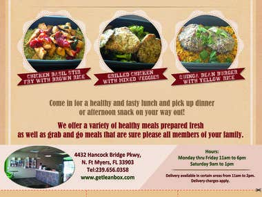 LEANBOX Lunch Flyer