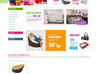 Opencart Based Colorful Website