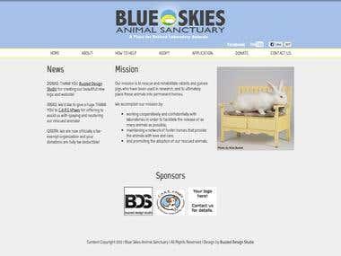 Blue Skies Animal Sanctuary Website Design Refresh
