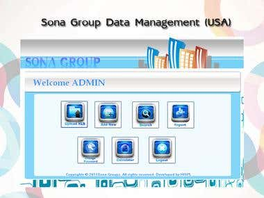Sona Group (USA) Data Management System