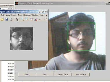 Webcam based Face recognition