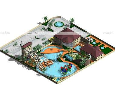 Schematic drawings for a Water Amusement Park