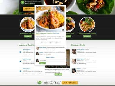 Responsive website design for an food company!