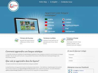 Localization of Web site into French