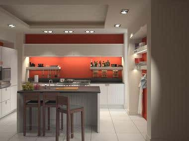 Kitchen interior for private residence, Pretoria, SA