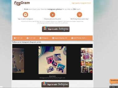 Instagram Photo Printing Service