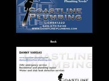 Coastline Plumbing Business Card