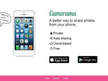 Camerama.co responsive web site.