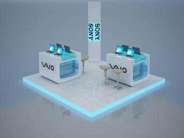 3D Exhibition Set Designing