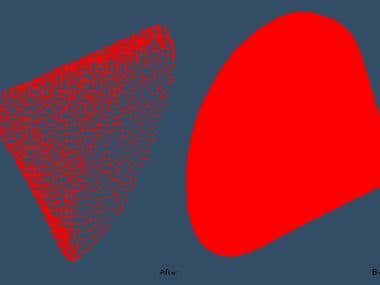 R surface in-consistency filtering.