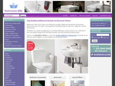 Bathrooms Etc - eCommerce Store (Online Shop)
