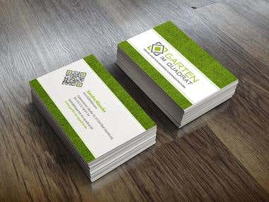 Business Cards Garten im Quadrat