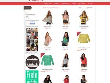 Ecommerce Webdesign Magento with Vintage Concept