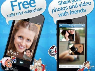 Free videocalls and messages (social networking)