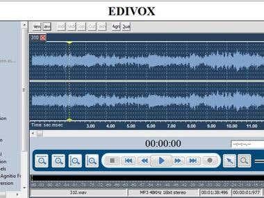 Audio editor component