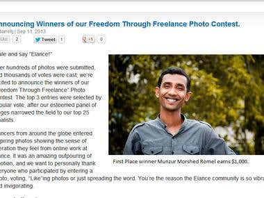 Freedom Through Freelance Photo Contest