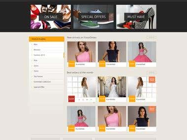 Ecommerc web template