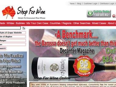 Website Design and SEO for shopforwine.net