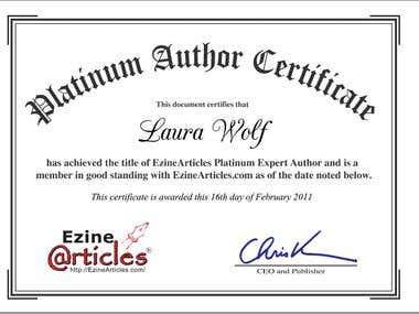 Platinum expert author status