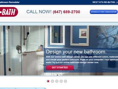 Website Design and Development for westgtabathroomremodeling